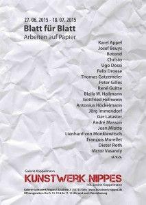 Kunstwerk Nippes Galerie Koppelmann Blatt für Blatt