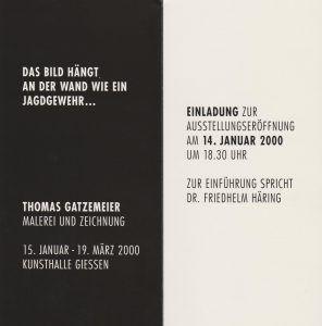2000 Das Bild hängt an der Wand...Kunsthalle Gießen