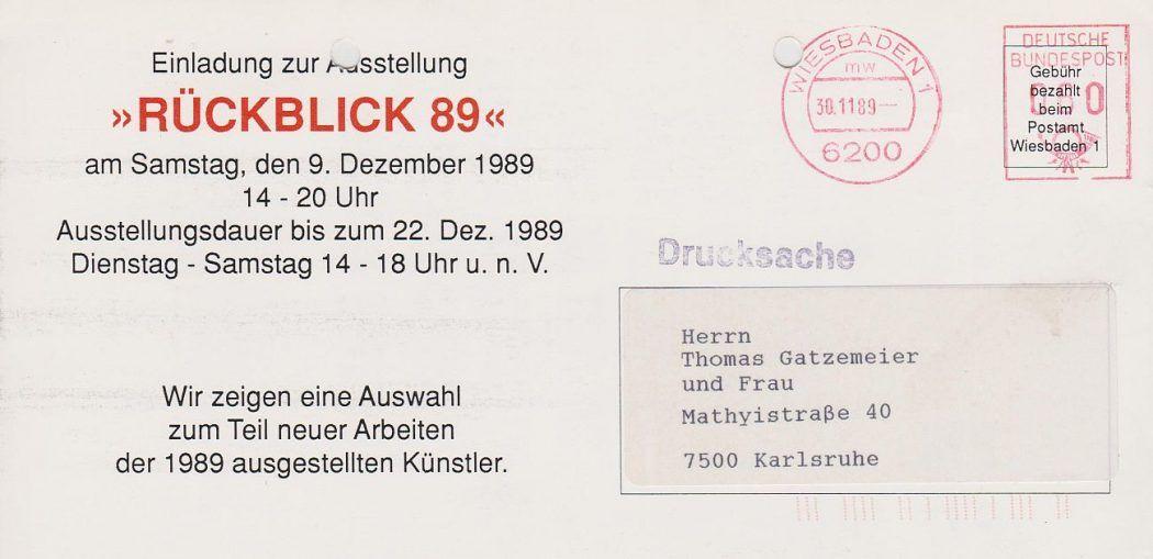 Ausstellung Ressel 1989 Rückseite