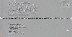 Einladung Ressel Einzelausstellung1994