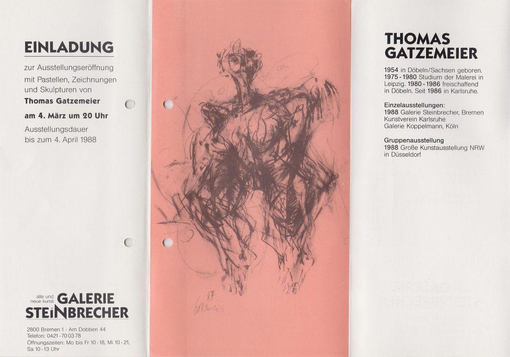 Thomas Gatzemeier Galerie Steinbrecher Bremen 1988