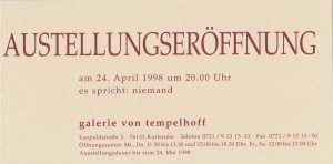 Galerie Tempelhoff Karlsruhe 1998