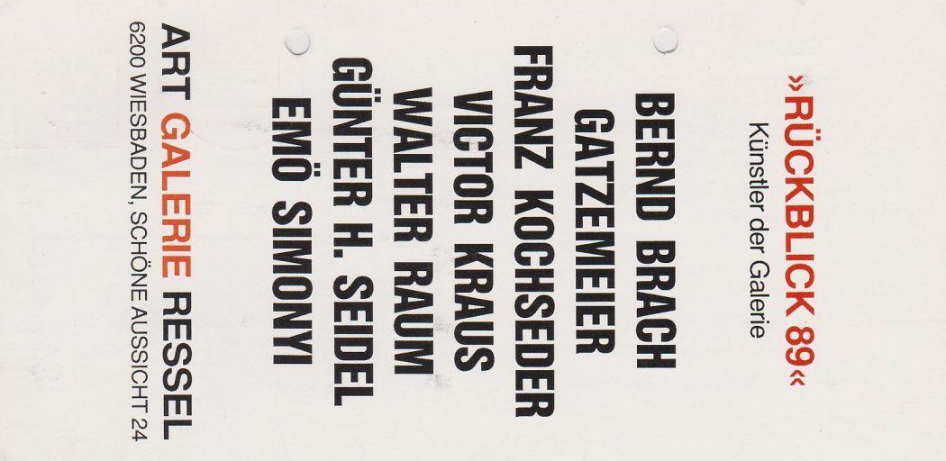 Ressel Wiesbaden Gruppenausstellung 1989