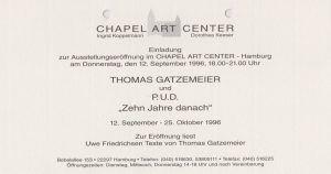Zehn Jahre Danach 1996 Chapel Art Köln 001