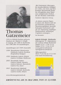 Galerie Schrade Karlsruhe 2001