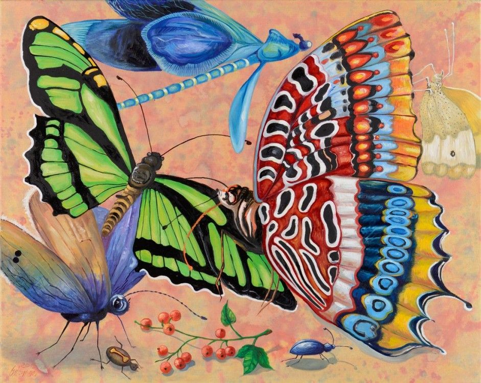 Falter und Libelle