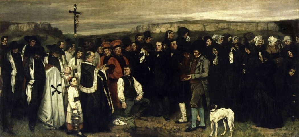 Gustave Courbet Ein Begräbnis in Ornans 1849–1850 Öl auf Leinwand, 315 × 668 cm