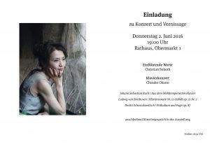 Einladung Konzert Chisako Okano Döbeln