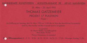 17 Plastiken Mannheimer Kunstverein 1995