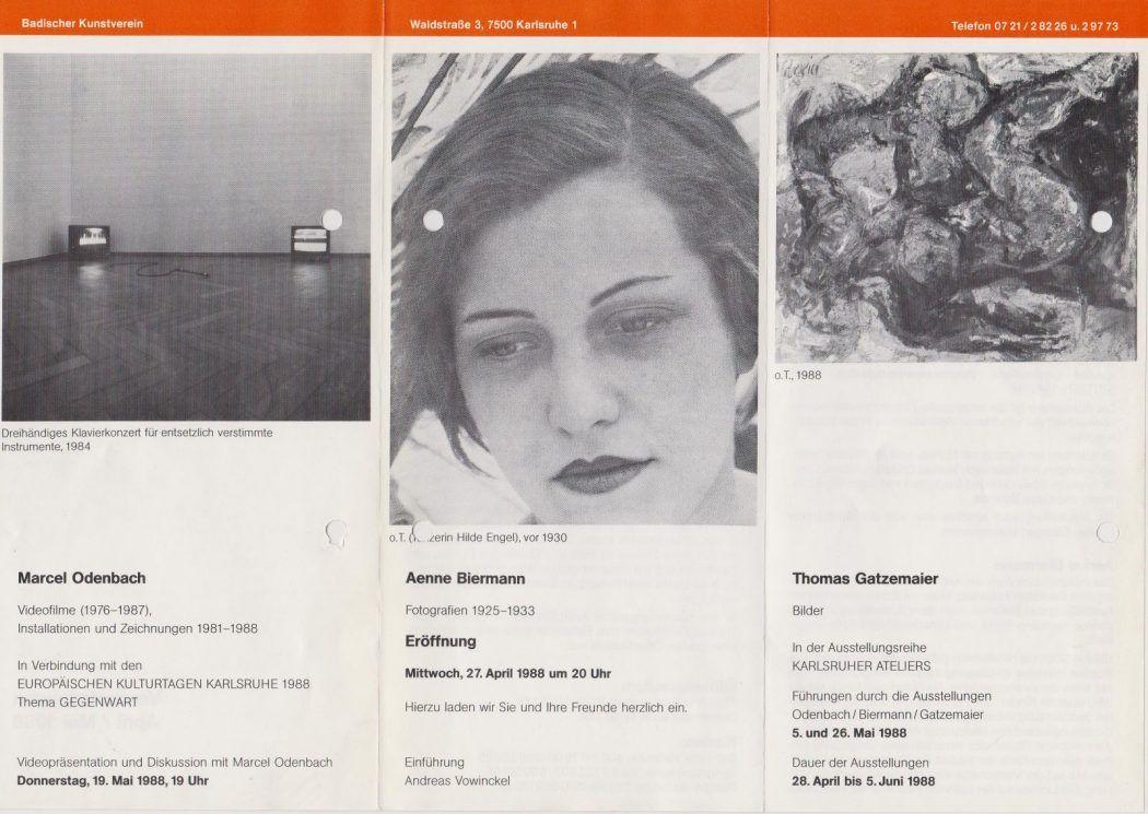 Badischer Kunstverein 1988 Karlsruher Ateliers