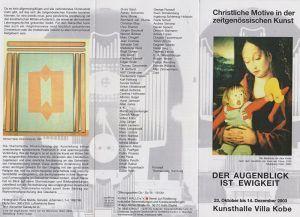 Christliche Motive in der... Kunsthalle Kobe Halle (Saale) Flyer