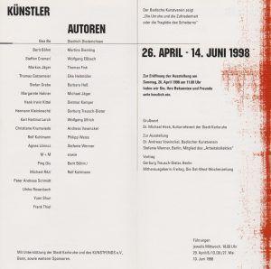 Die Unruhe und die Zufriedenheit 1998 Kunstverein Karlsruhe