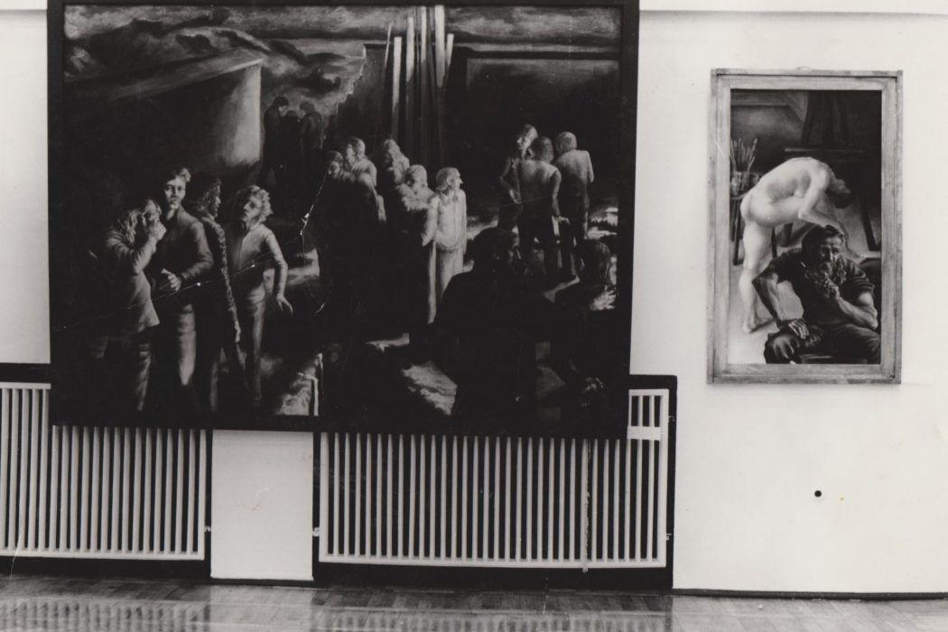 Thomas Gatzemeier Beerdigung Foto Diplomausstellung HGB Leipzig 1980