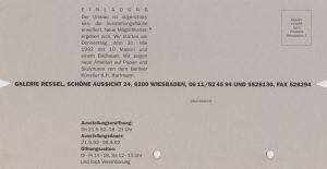 Gruppenausstellung Ressel Wiesbaden 1992