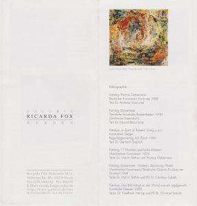 Ricarda Fox Galerie Essen 2000