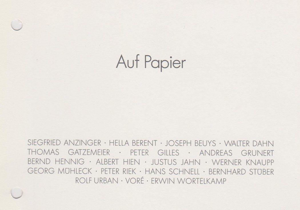 Rieker Gruppenausstellung Auf Papier 1988