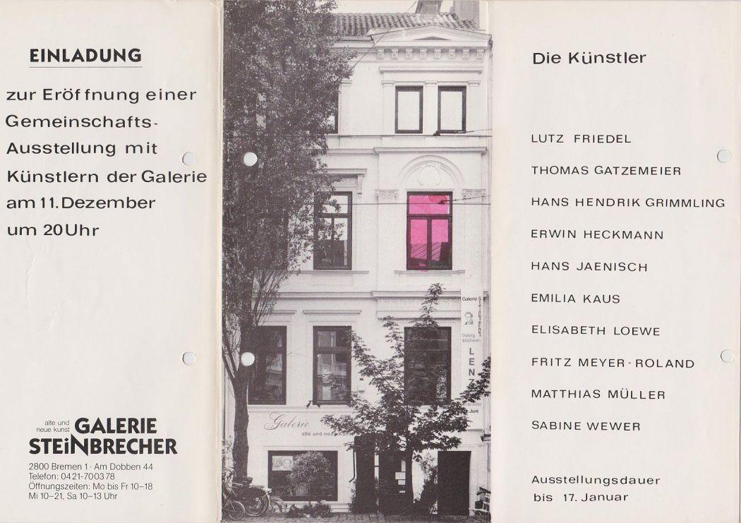 Steinbrecher Bremen Gruppenausstellung 1987