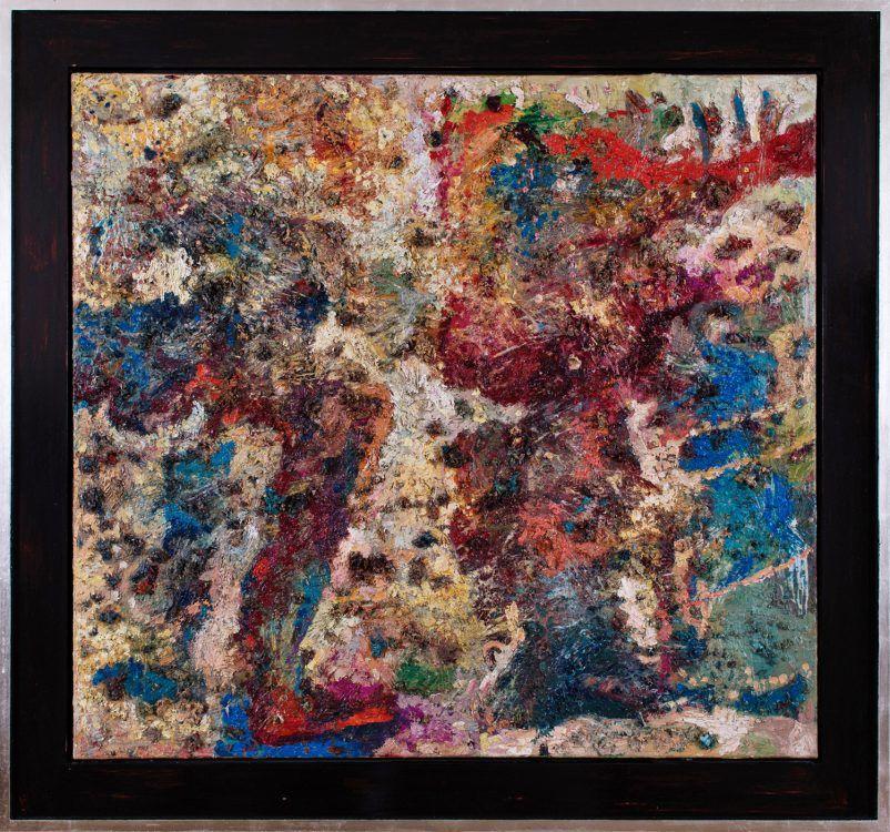 Paar ohne Distanz 1995 Öl auf Leinwand 100 x 110 cm