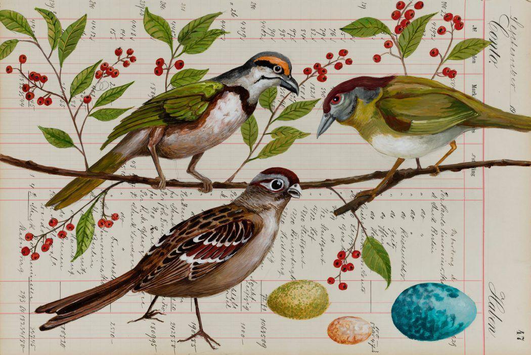 Thomas Gatzemeier | Vögel bei der Beerensuche | 2018 |