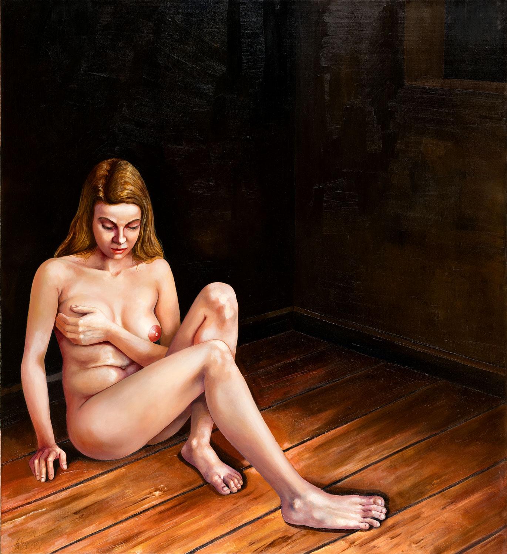 Thomas Gatzemeier Allein 2006 Öl auf Leinwand 100 x 100 cm