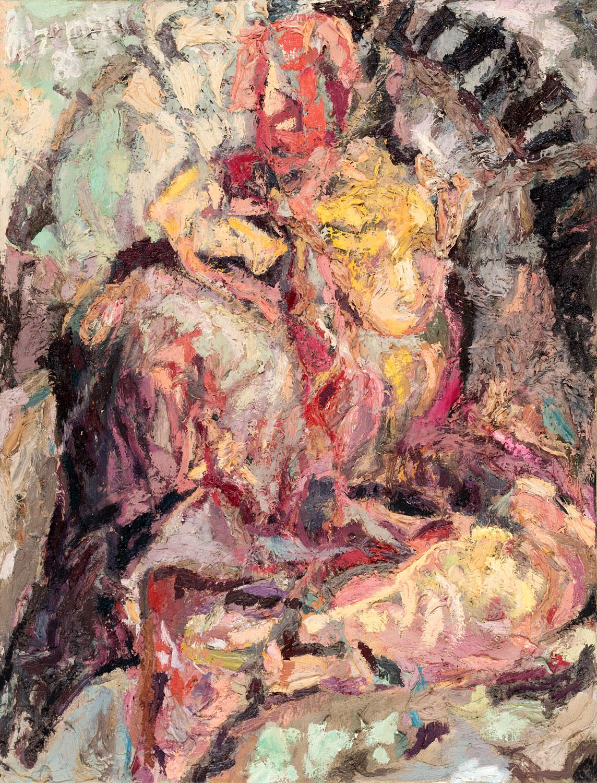 Thomas Gatzemeier Big Woman 1988 Öl auf Leinwand 130 x 100 cm