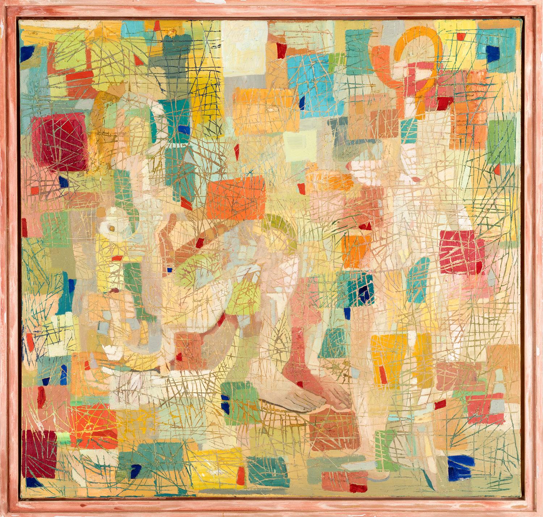 Thomas Gatzemeier Damennovelle 2000 Öl auf Leinwand 120 x 125 cm
