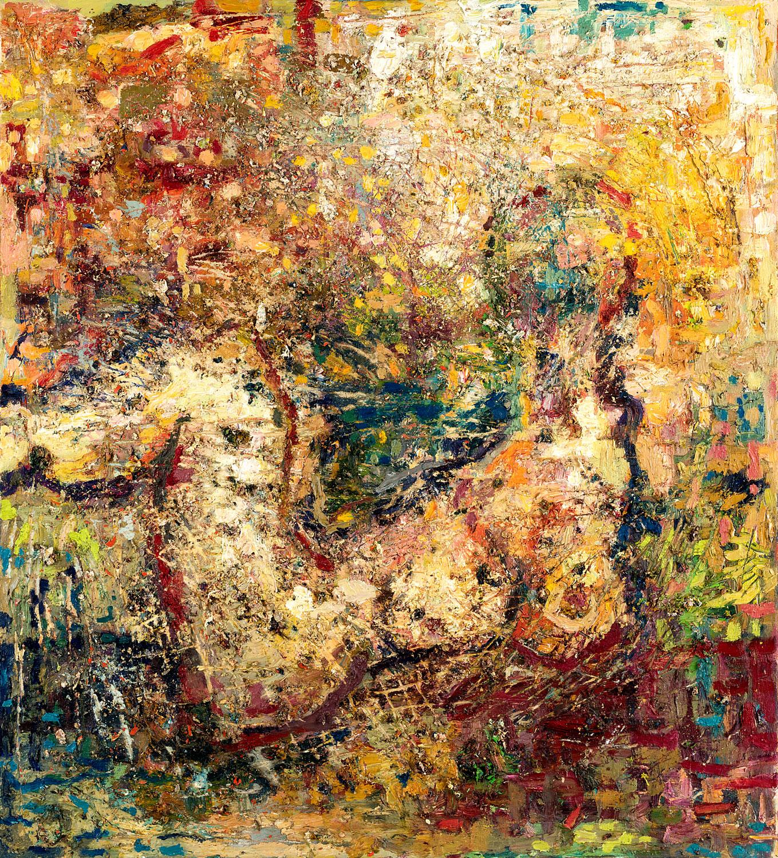 Thomas Gatzemeier Danae 2000 Öl auf Leinwand 100 x 90 cm