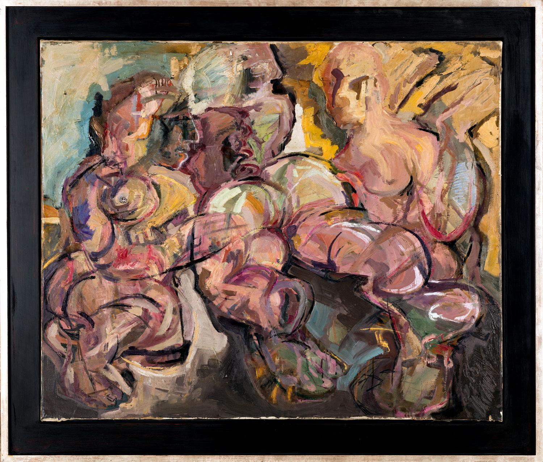 Thomas Gatzemeier Drei Frauen 1986 Öl auf Leinwand 98 x 118 cm