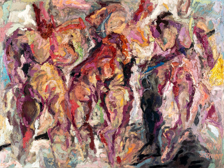 Thomas Gatzemeier Drei Grazien 1988-90 Öl auf Leinwand 150 x 200 cm