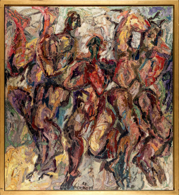 Thomas Gatzemeier Drei wilde Frauen 1988 Öl auf Leinwand 230 x 210 cm