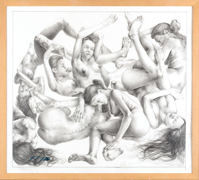 Thomas Gatzemeier Entwurf für 'Le Ciel' 2007 Bleistift auf Papier 96 x 107 cm