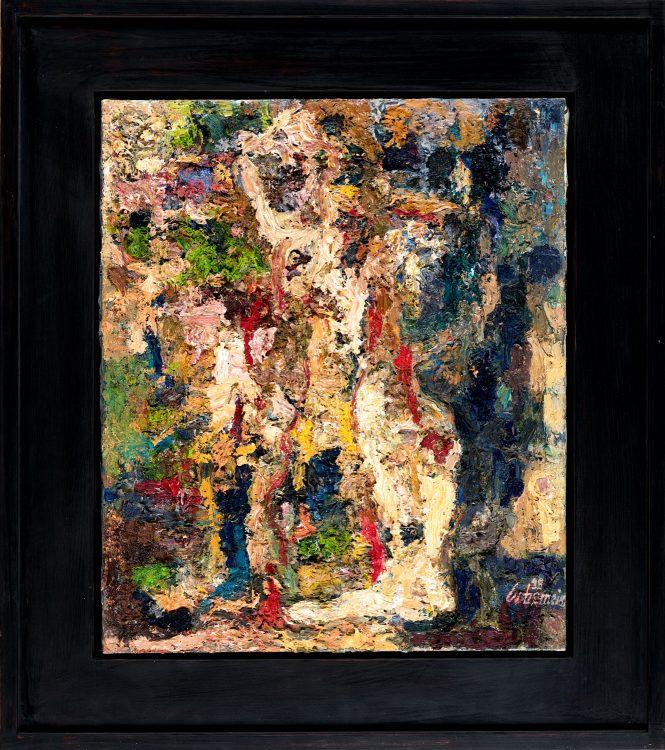 Thomas Gatzemeier Figur 1989 Öl auf Leinwand 60 x 50 cm