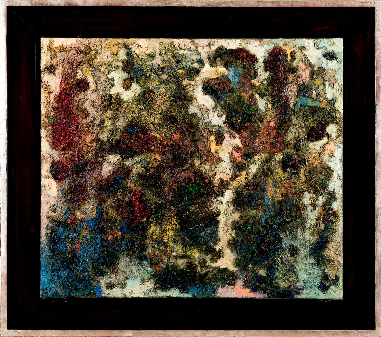 Thomas Gatzemeier | Figur-Wald | 1997 | Öl auf Leinwand | 75 x 85 cm