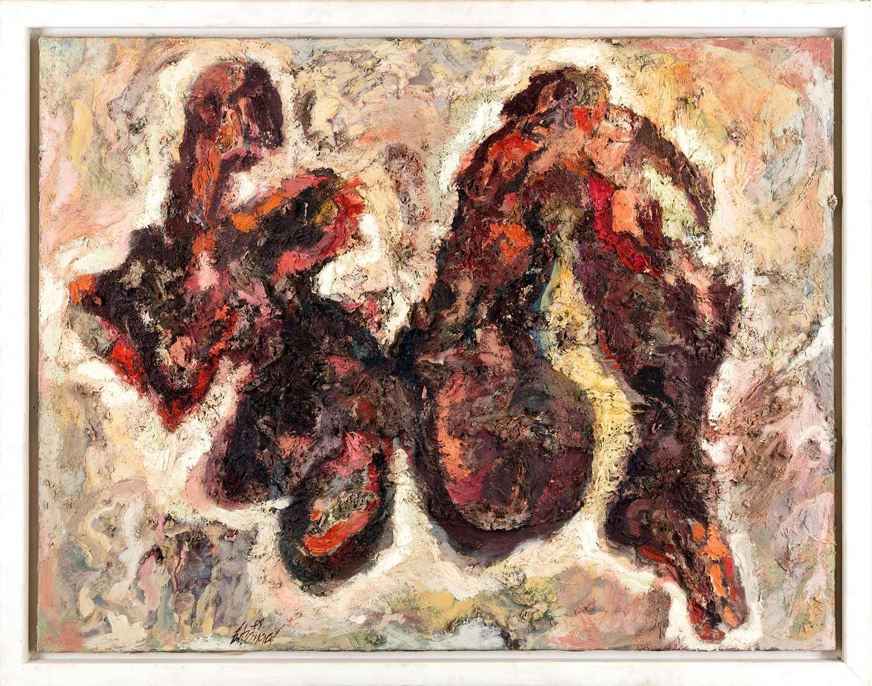 Thomas Gatzemeier | Figur plastisch | 1989 | Öl auf Leinwand | 100 x 130 cm