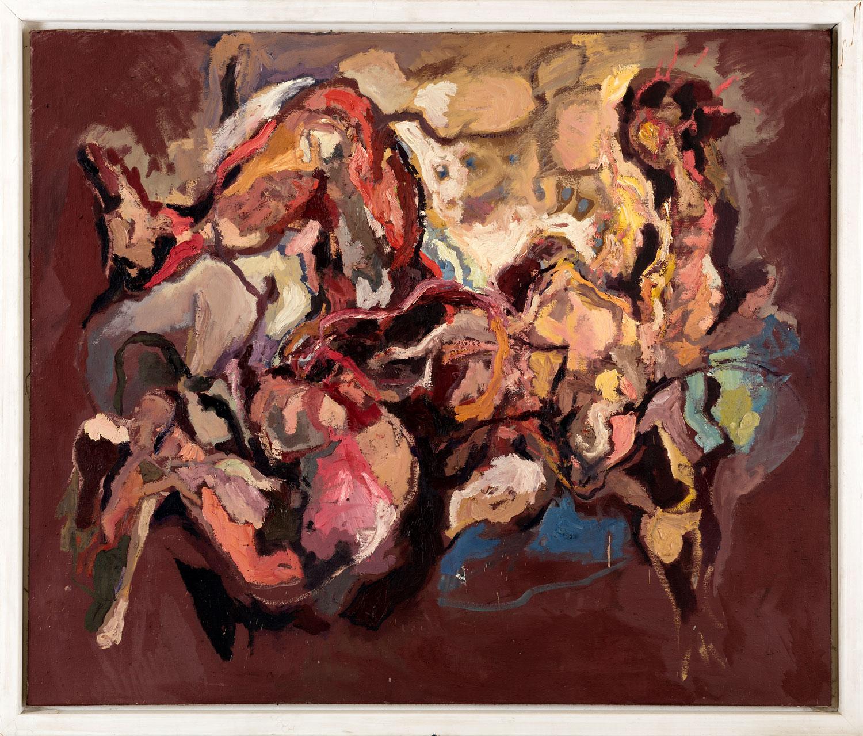 Thomas Gatzemeier Gespreitzt Liegende 1988 Öl auf Leinwand 130 x 155 cm