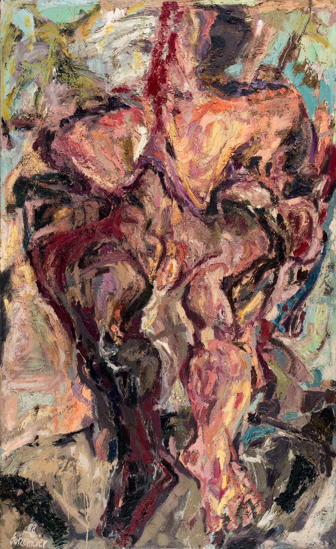 Thomas Gatzemeier Große Stehende 1988 Öl auf Leinwand 205 x 127 cm