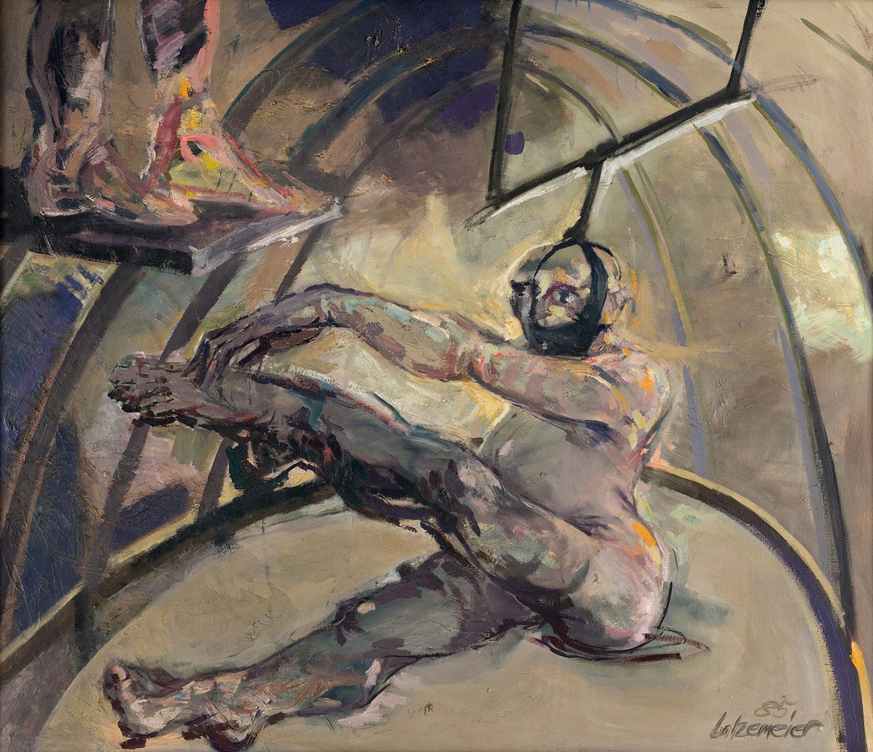 Thomas Gatzemeier In der Manege 1985 Öl auf Leinwand 120 x 140 cm