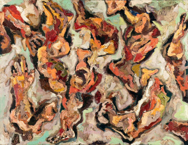 Thomas Gatzemeier Körperfragmente 1989 Öl auf Leinwand 110 x 130 cm