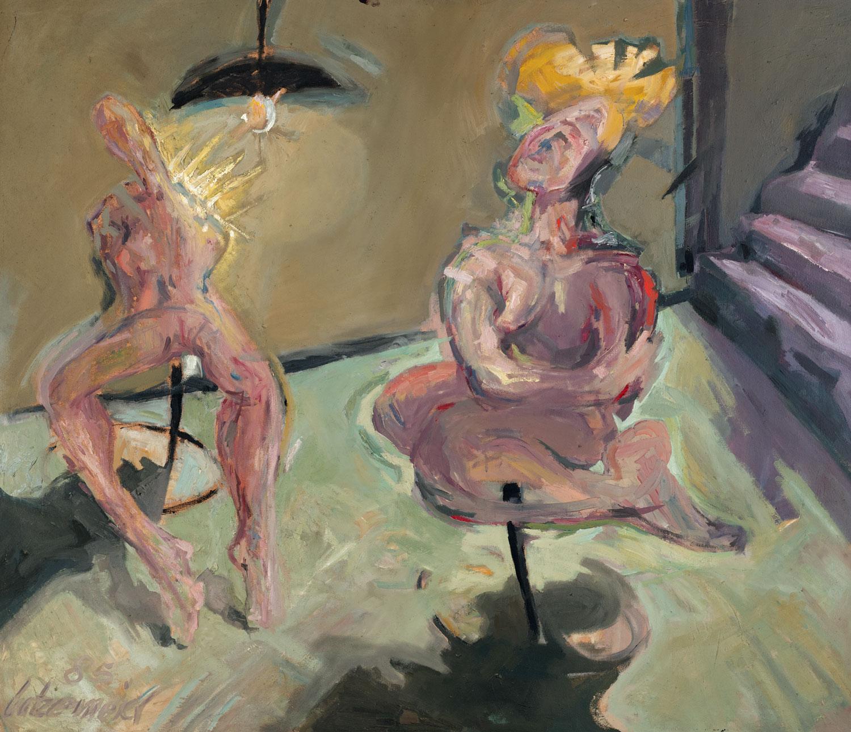 Thomas Gatzemeier Licht im Keller 1985 Öl auf Hartfaser 120 x 140 cm