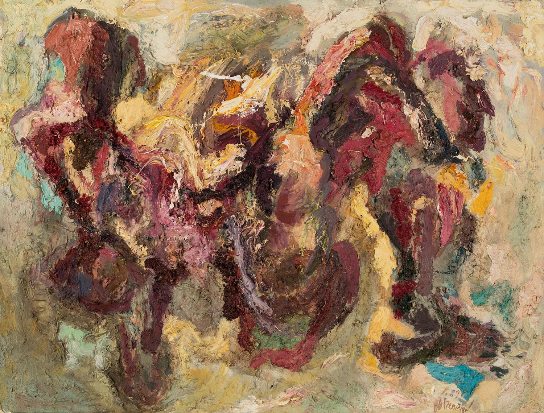 Thomas Gatzemeier Liegende 1989 Öl auf Leinwand 100 x 130 cm