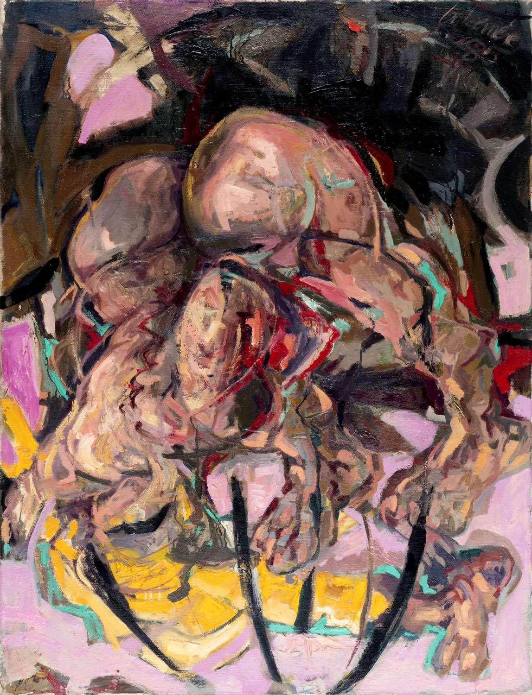 Thomas Gatzemeier Mann im Käfig   1985   Öl auf Leinwand 130 x 100 cm