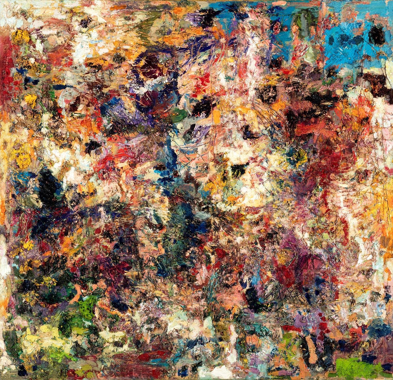 Thomas Gatzemeier Nach dem Kampf der Kentauren 2000 Öl auf Leinwand 115 x 120 cm