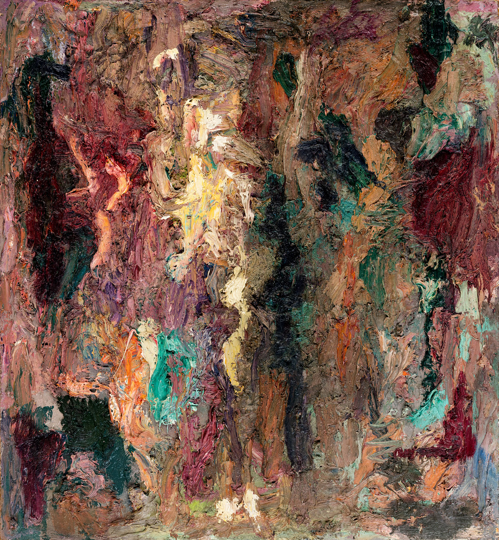 Thomas Gatzemeier Quadrat 1 | 1990 Öl auf Spanplatte 65 x 56 cm
