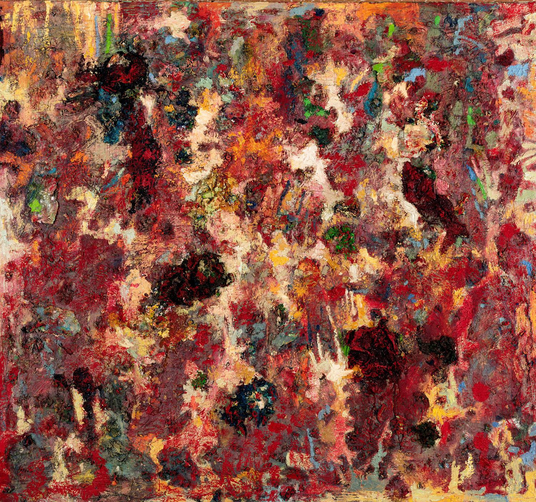 Thomas Gatzemeier Rote Topografie 1997 Öl auf Leinwand 140 x 150 cm