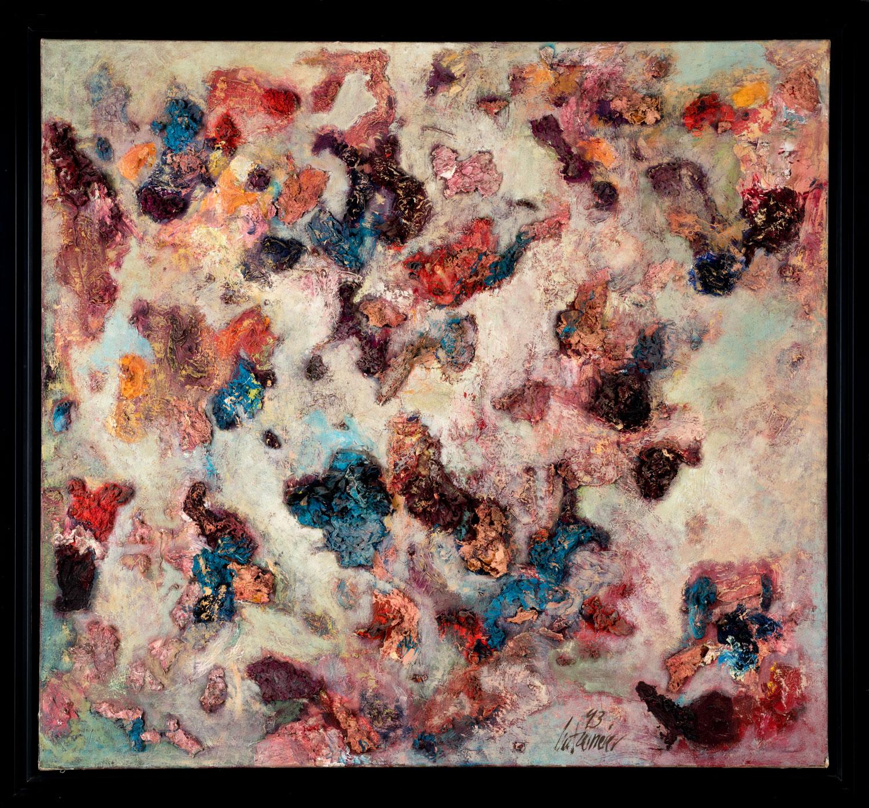 Thomas Gatzemeier Topografie der Verwirrung 1993 Öl auf Leinwand 125 x 135 cm