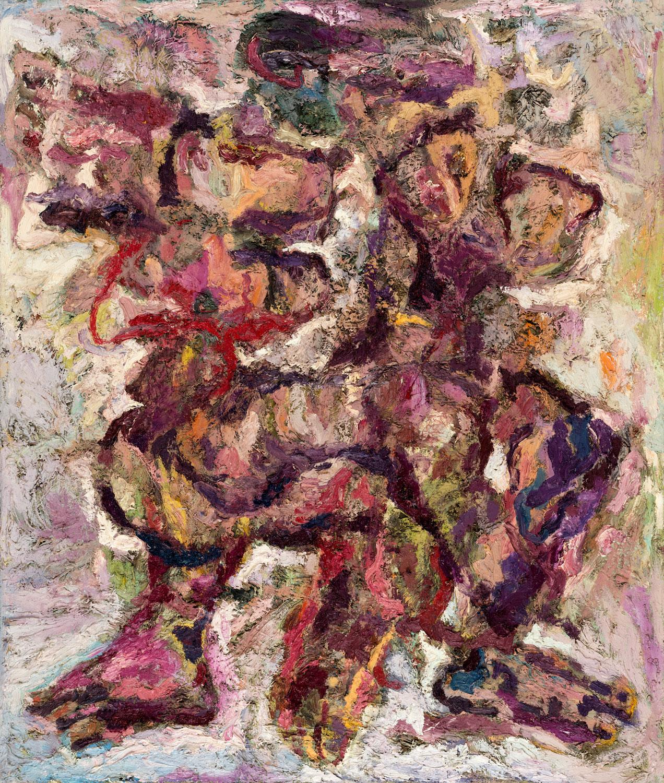 Thomas Gatzemeier Verschlungenes Paar 1989-90 Öl auf Leinwand 130 x 110 cm