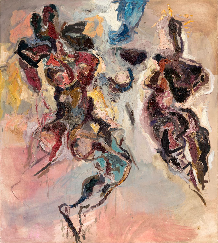 Thomas Gatzemeier Wilde Torsi 1990 Öl auf Leinwand 140 x 125 cm
