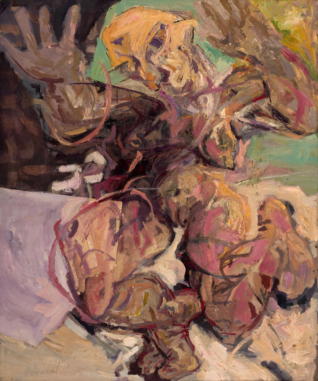 Thomas Gatzemeier Woman 1985 Öl auf Leinwand 120 x 110 cm