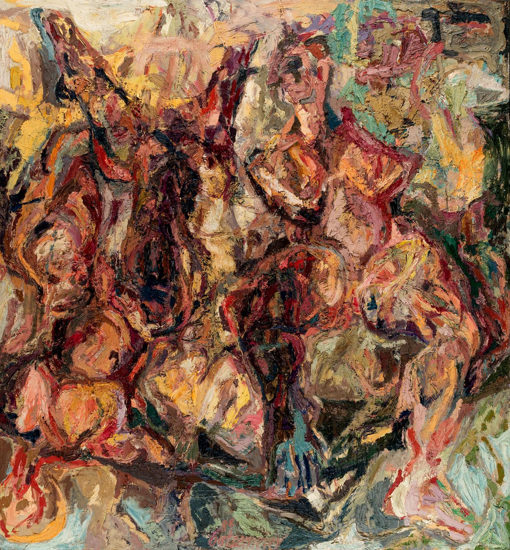 Thomas Gatzemeier Zuschauerin 1988 Öl auf Leinwand 230 x 210 cm