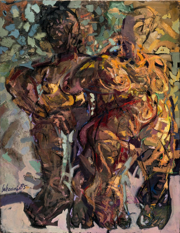 Thomas Gatzemeier Zwei Frauen 1985 Öl auf Leinwand 130 x 100 cm